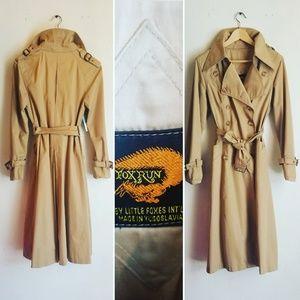Vintage Fox Run Trench Coat